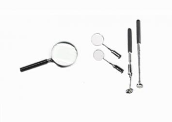 Nagyító, Lupe, Mikroszkóp, Vizsgálótükör