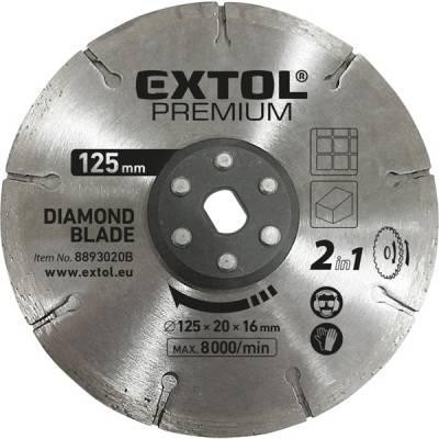 125 x 20mm EXTOL PREMIUM gyémántvágó korong 8893020 vágógéphez