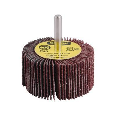 Lamellás csiszoló, csapos, 6 mm befogás, Alu-Oxid, 60x30mm; P100, max.: 12.150 ford./perc