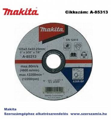 Vágókorong ACÉL 125x2,5 mm T2 MAKITA