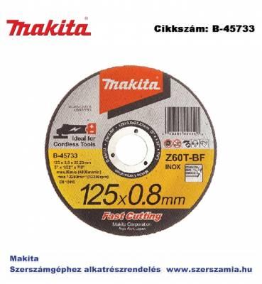 Vágókorong INOX 125 x 0,8 mm T2 MAKITA