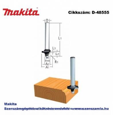 Kerekítő kés, befogó: 8 mm átmérő: 38,1 mm rádiusz: 12,7 mm T2 MAKITA