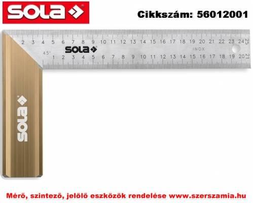 Asztalos derékszög Alu fogantyú SRB 250 rozsdamentes,250x145mm SOLA