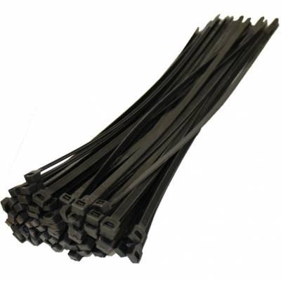 Kábelkötegelő fekete 2.5 x 100mm 100db/csomag