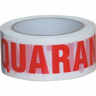 Feliratos kartonlezáró szalag (Quarantine) 50mmx66m