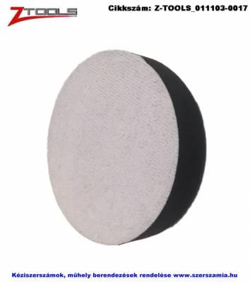 Z-TOOLS tépőzáras polírozó szivacs puha d125x30 fekete