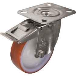 Görgő bolygó típus felső tányérral és fékkel rozsdamentes acél (poliuretán gumi) 80mm