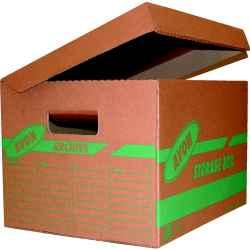 Tárolódoboz barna 43 x 36 x 26cm 10db/csomag