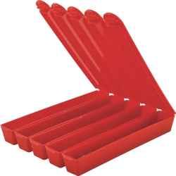 Szétválasztható műanyagnyelű csomagoló doboz piros 5db-os 12x114mm 50db/csomag