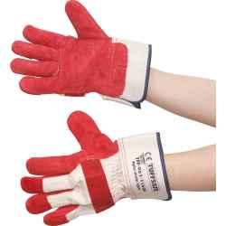 Prémium minőségű S5 bélelt bőr védőkesztyű piros/fehér 10-es 12pár/csomag