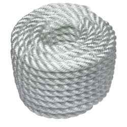 Poliészter kötél sodrott fehér 3 mm