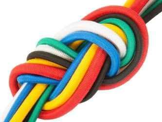 Spiroid kötél színes (PP) 7 mm