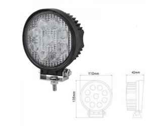 LED munka lámpa, 9 LED lámpa kerek 12/24V