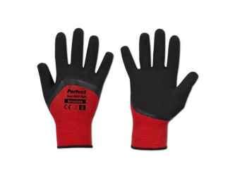 Védőkesztyű 9 PERFECT SOFT RED FULL, latex.
