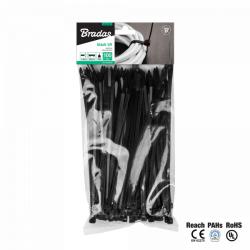 Kábelkötegelő 2,5x100mm UV fekete 100 db (K250/500)