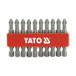 Bitkészlet 10 db-os PH1x50mm-PZ1x50mm 1/4 col YATO (R10)