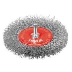 Tárcsás drótkefe 100 mm, nyéllel YATO