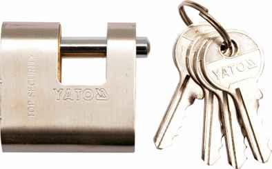 Lakat sárgaréz 90 mm, 4 kulcsos