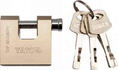 Lakat sárgaréz 50 mm, 4 kulcsos