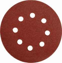 Csiszolótárcsa (tapadókoronggal-lyukakkal) 125 mm P150 5 db-os