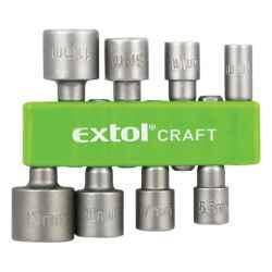 8 db-os behajtó készlet hatlapfejű csavarhoz, 5-13mm, 36-38mm hossz, hatszög befogás, nem mágneses, C.V.