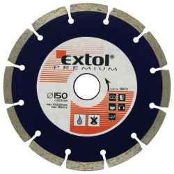 EXTOL PREMIUM szegmenses gyémántvágó tárcsák 125x22,2mm, max.12.250 f/min