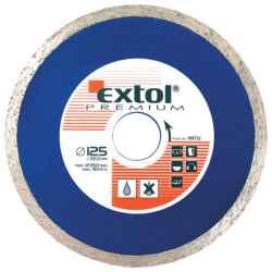 EXTOL PREMIUM gyémántvágó tárcsák csempevágáshoz 125x2x22,2mm, max.12.250 ford/perc
