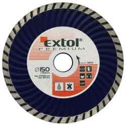 EXTOL PREMIUM gyémántvágó tárcsák turbo gránit/kerámia 150x22,2mm, max.10.200 ford/perc