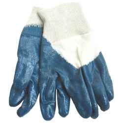 Kesztyű, HARRIER, olajálló, kék, mártott, nitril, méret:10