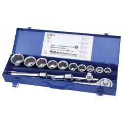 16 db-os dugókulcs készlet, 22-50mm, C.V.