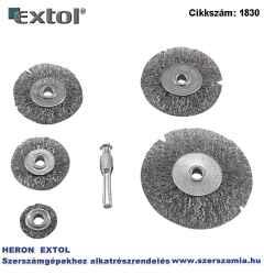 Drótcsiszoló körkefe készlet 25-38-50-63-75 mm, 6 mm csap, hullámos acél szálak: 0,3 mm, max. 4500rpm