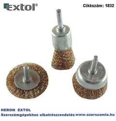 Drótcsiszoló körkefe fazékkefe készlet o 6 mm-es csap, fúróba fogható, max. 4500 ford/perc