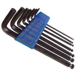 7 db-os gömbfejű imbuszkulcs készlet, 2,5-10mm, bliszteren