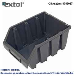 Tároló doboz, ERGOBOX 3, közepes, 170 x 240 x 125 mm, műanyag, fekete