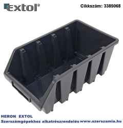 Tároló doboz, ERGOBOX 4, nagy, 205 x 340 x 155 mm, műanyag, fekete
