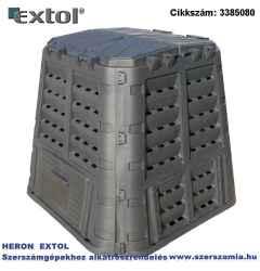 Komposztáló láda, 650 liter, műanyag UV-álló, lakatolható, fagyálló, fekete