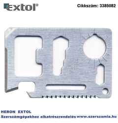 Túlélő kártya, 11 funkciós, tokkal 6,9 x 4,5 x 0,2cm, INOX