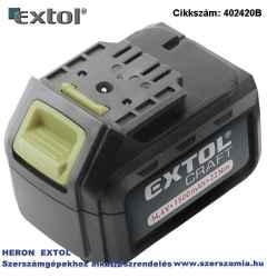 Pót akkumulátor 14,4V Li-ion, 402420 akkus fúró csavarozóhoz 1500 mAh, töltési idő: 5,5 óra