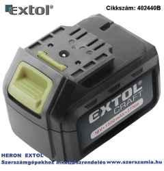 Pót akkumulátor 18V Li-ion, 402440 akkus fúró csavarozóhoz 1500mAh, töltési idő: 1 óra