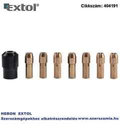 Tokmány készlet, befogás: 1-1,6-2-2,3-3-2x3,2 mm, M8 x 0,75 mm, a 404120, 404121, 8892201 mini köszörűgéphez