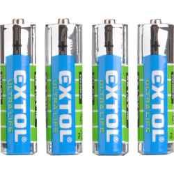 AA cink-klorid 1,5V elem, 4db, féltartós LR6 EXTOL LIGHT