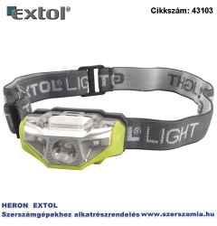 LED fejlámpa, 1 W fehér, 2 smd piros, 4 funkció fehér: teljes/fél fényerő, piros: folyamatos / villogás, elem nélkül