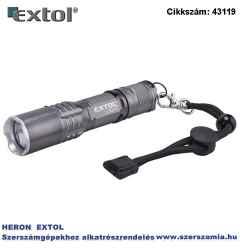 Led lámpa, 3W cree xpe, 100lm, 3 funkció teljes/fél fényerő, villogás, alu ház, elem nélkül