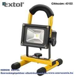 Hordozható led lámpa reflektor, 10W, 800 lm ip65, Li-ion akkus tölthető