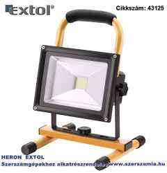 Hordozható led lámpa reflektor, 10/20W 1400 lm, ip65, Li-ion akkus, 4400 mAh, tölthető: 230V és 12V is, 1,5kg