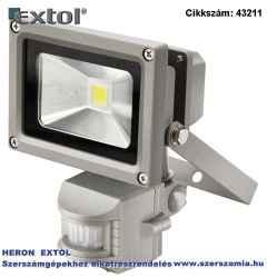 Led lámpa, falra szerelhető reflektor mozgásérzékelővel, 10W, 650 lm, ip44, 230V/50Hz