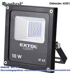 Led lámpa, falra szerelhető reflektor, 10W 650 lm, ip65, 230V/50Hz, 0,36 kg