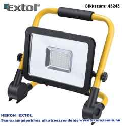 Led lámpa, hordozható reflektor állvánnyal, 30W 3200 lm, ip65, 230V/50Hz, 1,6kg