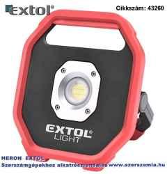 Hordozható led lámpa, elemes reflektor, 10W 1200 lm, ip54, 0,67 kg