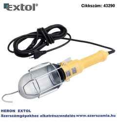 Munkalámpa, izzó nélkül, E27 foglalat, max. 60W kampós akasztó plusz csiptető, 230V/50Hz, 5 m kábel